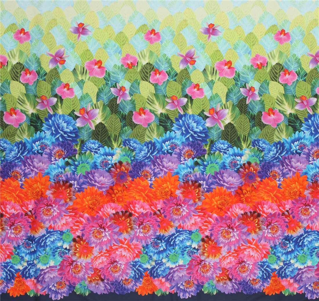 Michael Miller Colorful Flower Digital Print Fabric Modes4u