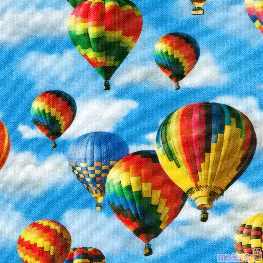 - Robert Kaufman Colorful Hot Air Balloon Fabric - ModeS4u