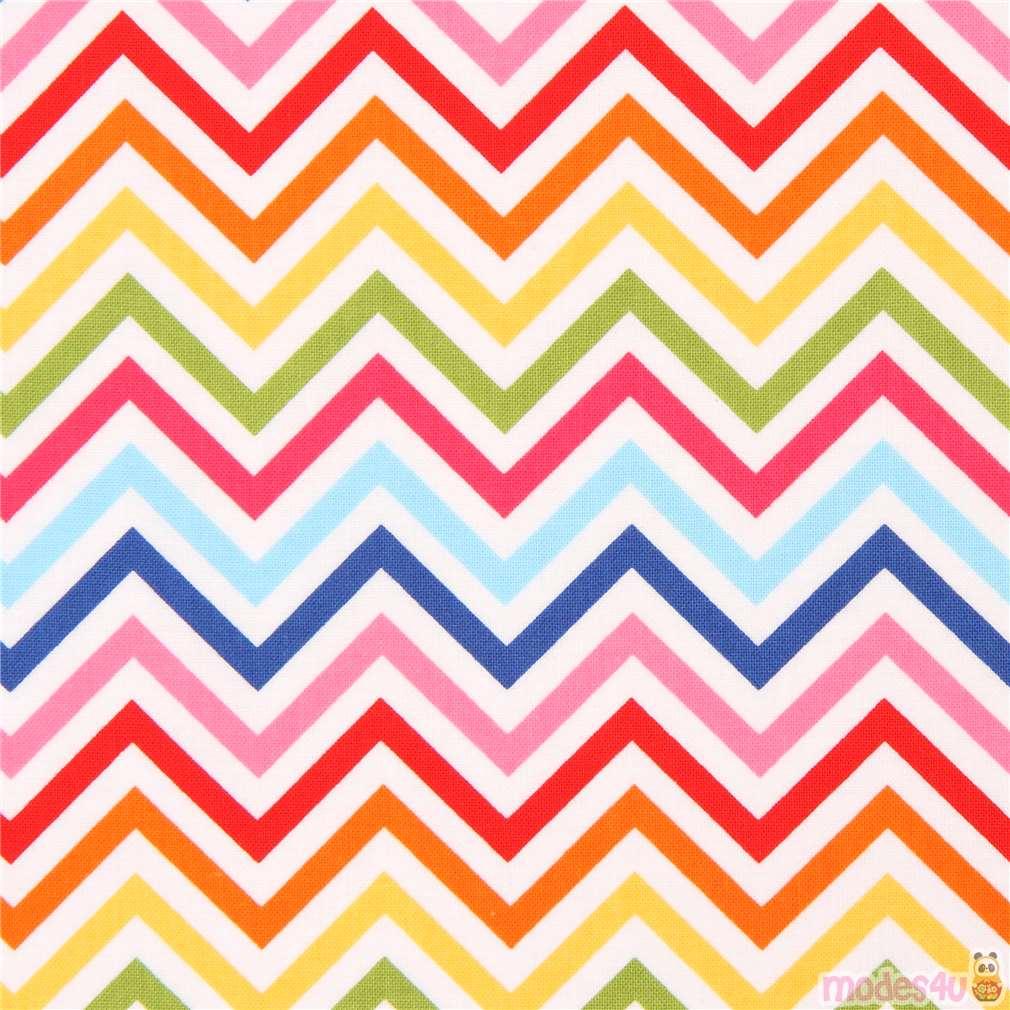 Robert Kaufman Thin Zig Zag Chevron Fabric Hot Pink Dark Blue Remix Modes4u Kawaii