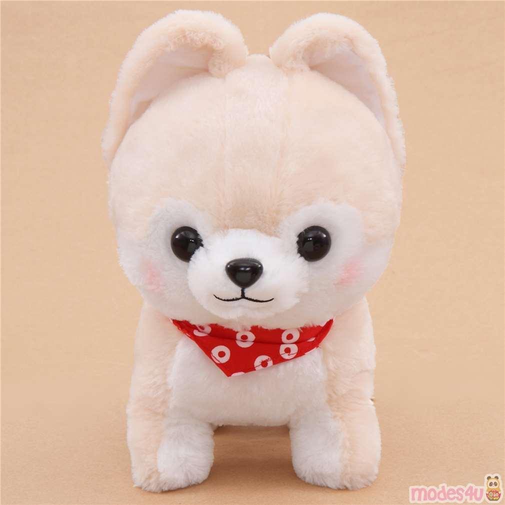 Hay Hay Chicken Stuffed Animal, Big Cream White Mameshiba San Kyodai Plush Toy From Japan Modes4u