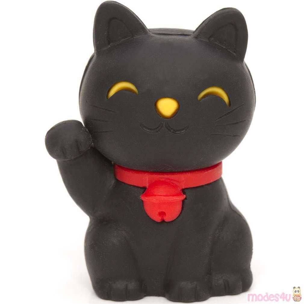 Black Lucky Cat Eraser Maneki Neko From Japan Animal Eraser