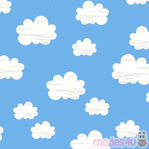 Tela azul con nubes de timeless treasures telas infantiles telas tienda kawaii modess4u - Imagenes de nubes infantiles ...