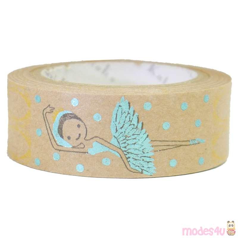 Nastro adesivo washi marrone ballerine decorazioni blu metallizzate washi tape nastri - Nastri decorativi natalizi ...