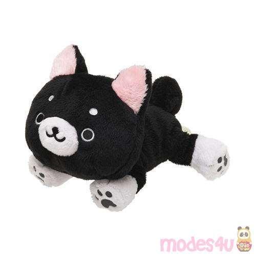 Cute Black And White Iiwaken Dog Plush Toy With Collar Dog Plush