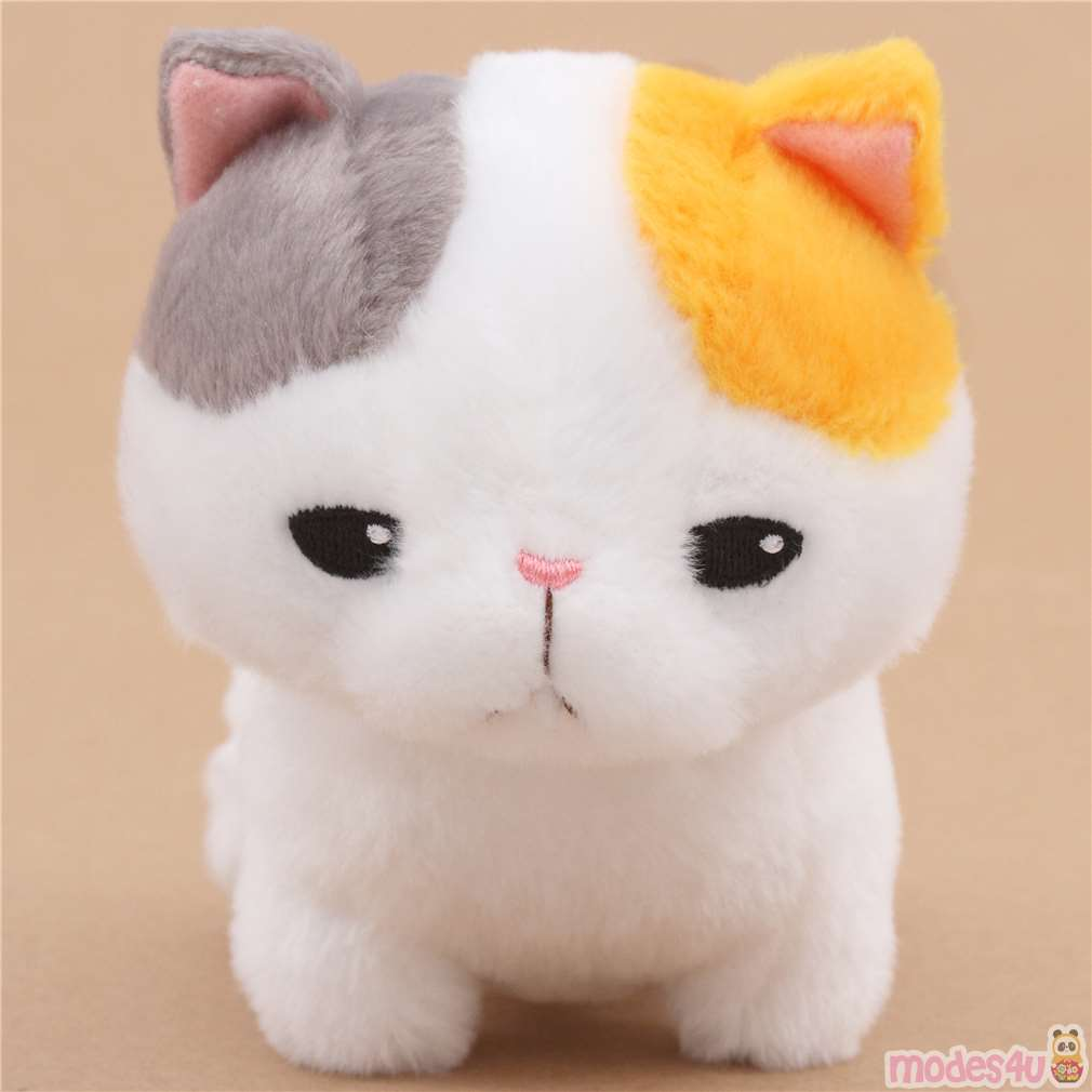 Cute Grey Orange White Cute Cat Plush Toy Yappari Munchkin From