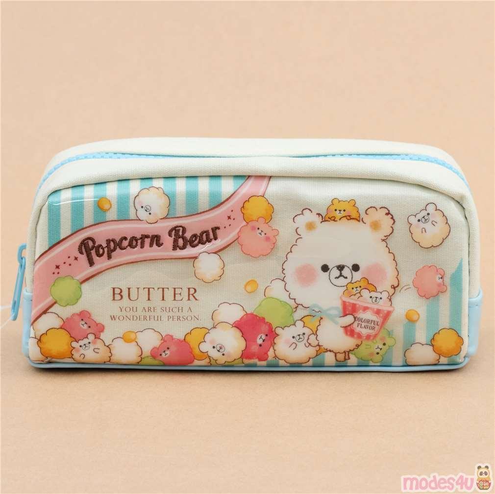 eraser /& more Cute import *Kawaii Bear Pencil Case* gift set includes pencils