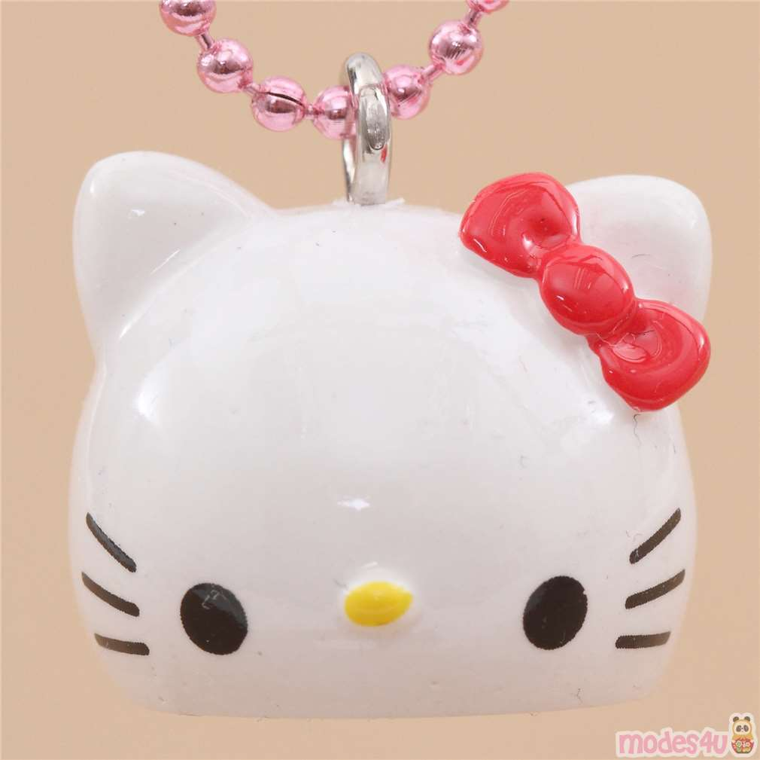 "Sanrio Teddy Red Hello Kitty Charm Necklace 15/"" Chain Q"
