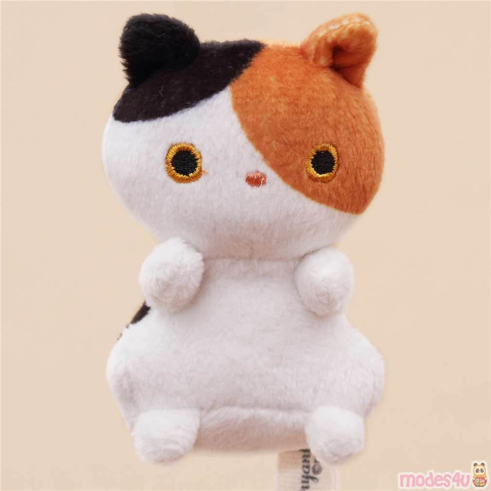 Cute Small White Brown Black Cat Animal Plush Toy Cat Plush