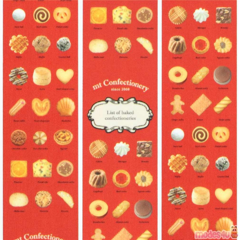 Nastro adesivo decorativo mt ex washi rosso dolci nastri adesivi con cibo nastri adesivi - Nastri decorativi natalizi ...