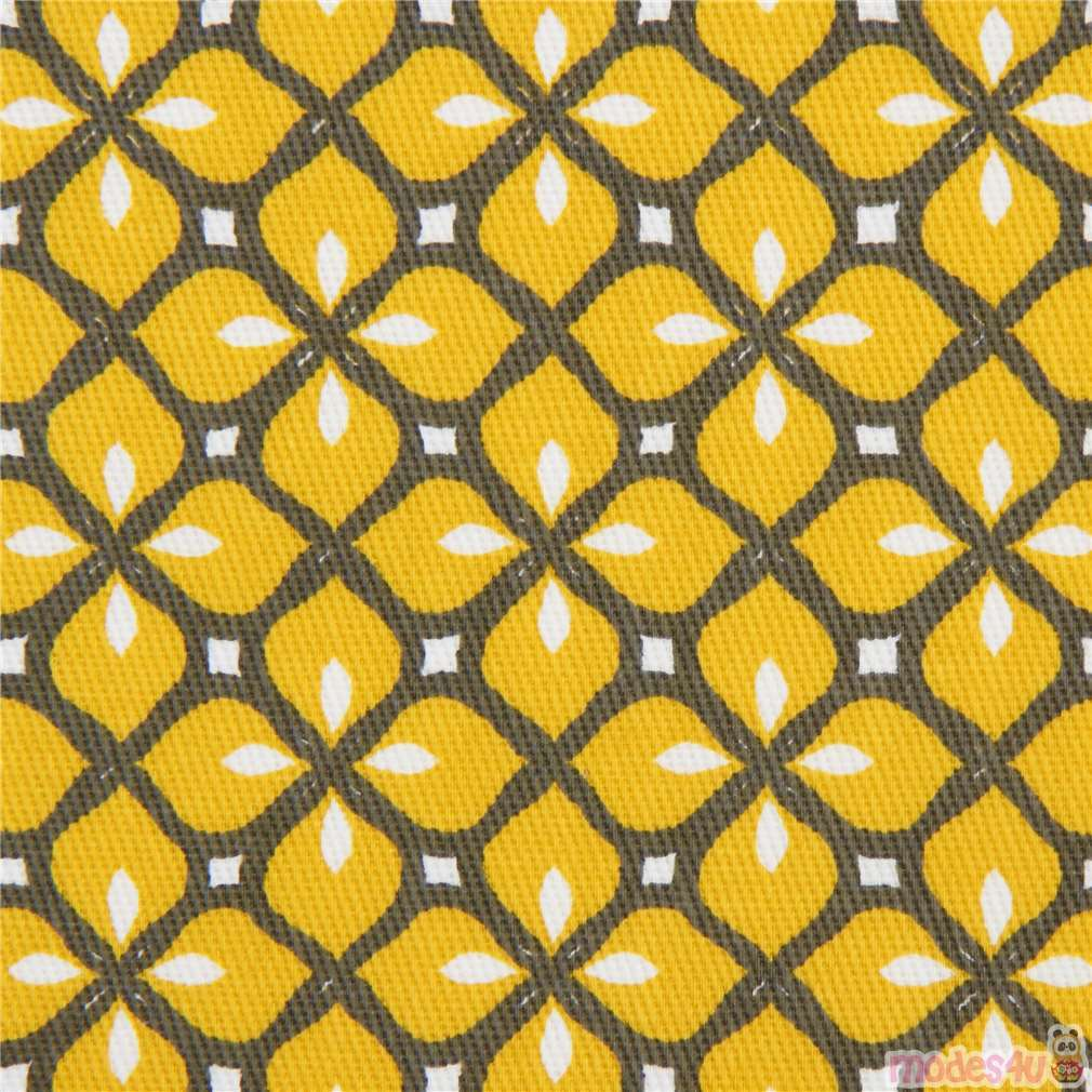 Mustard Yellow Flower Fabric By Stof France Modes4u Kawaii Shop
