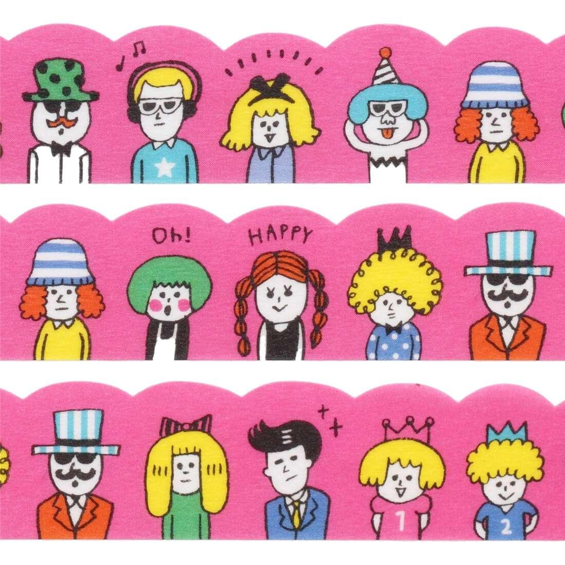 Nastro adesivo rosa persone felici sagomato mind wave nastri adesivi cartoon nastri adesivi - Nastri decorativi natalizi ...
