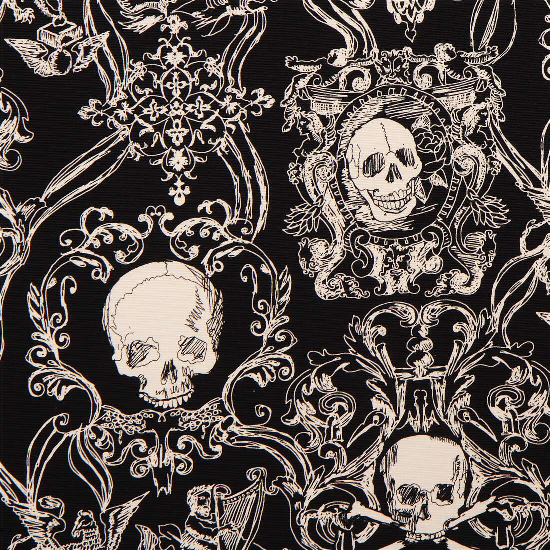 Cotton skulls cream-colored
