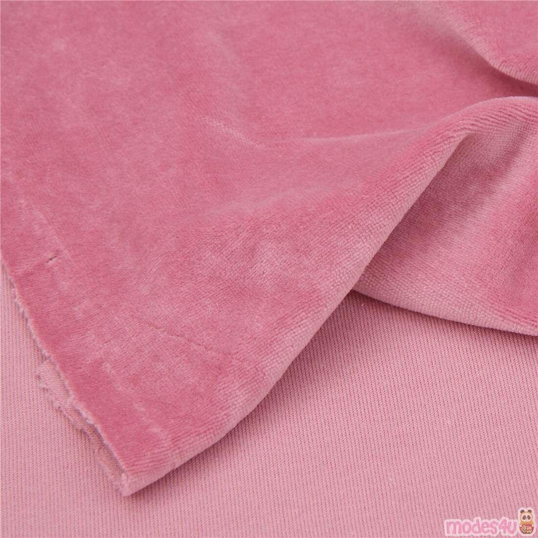 METRE Alexander Henry Skulls Stretch Cotton Jersey Dressmaking Fabric Pink