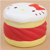 Hello Kitty Squishy Cake And Stand : Faulty - cute Hello Kitty round cake Puchi cake sweet treat squishy for bag - Cheap Squishy ...
