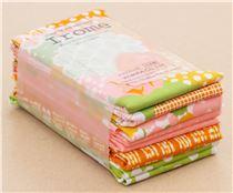 coupons de tissus vert citron orange pois et fleurs irome par kokka coupons de tissus. Black Bedroom Furniture Sets. Home Design Ideas