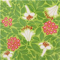 Michael miller polyurethane laminate fabric white flower green leaf michael miller polyurethane laminate fabric white flower green leaf flower bed mightylinksfo