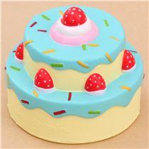 Squishy Cake Food 52 : Vlampo cute happy birthday cake blue icing squishy kawaii - Food Squishy - Squishies - Kawaii ...