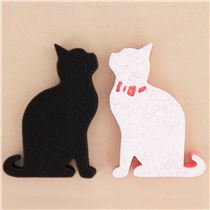 black white pink cat shape cleaning sponge 2pcs