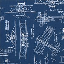 Blue vintage blueprints airplane draft plan fabric robert kaufman blue vintage blueprints airplane draft plan fabric robert kaufman usa malvernweather Image collections