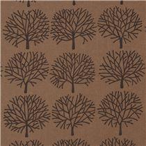 brauner alexander henry stoff dunkelgrauer baum blumenstoffe stoffe kawaii shop modes4u. Black Bedroom Furniture Sets. Home Design Ideas