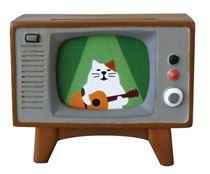 Figur brauner fernseher mit katze von decole figuren schreibwaren kawaii shop modes4u - Hello kitty fernseher ...
