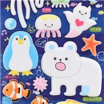 Pegatinas blandas esponjosas 3d lindo oso polar ping ino for Pegatinas de peces