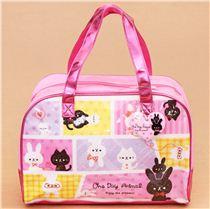metallic pinke katze hase plastik glitzer tasche aus japan handtaschen taschen accessoires. Black Bedroom Furniture Sets. Home Design Ideas