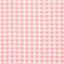 tela blanco roto con pequeos corazones rosas corazn rosa de lecien