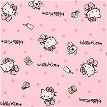 Tela oxford rosa gata hello kitty desayuno confeti de sanrio jap n tela de hello kitty telas - Armoire tissu hello kitty ...