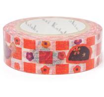 Nastro adesivo coprente rosso bianco uccelli quadrati - Nastri decorativi natalizi ...