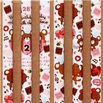 Jahreszeiten Bleistift Monat 2 Februar Bär Valentinstag