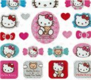 hello kitty glitzer sticker aufkleber lollipop sticker. Black Bedroom Furniture Sets. Home Design Ideas