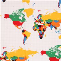 White riley blake colorful world map fabric our world retro fabric white riley blake colorful world map fabric our world gumiabroncs Images