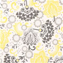 White riley blake flower fabric from the usa yellow grey flower white riley blake flower fabric from the usa yellow grey mightylinksfo