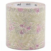Nastro adesivo largo washi bianco fiori viola foglie verdi - Nastri decorativi natalizi ...