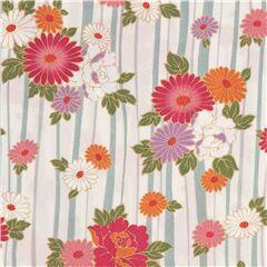 Japanese Fabric  Kokka  Cotton  Jumbo Flowers Twill