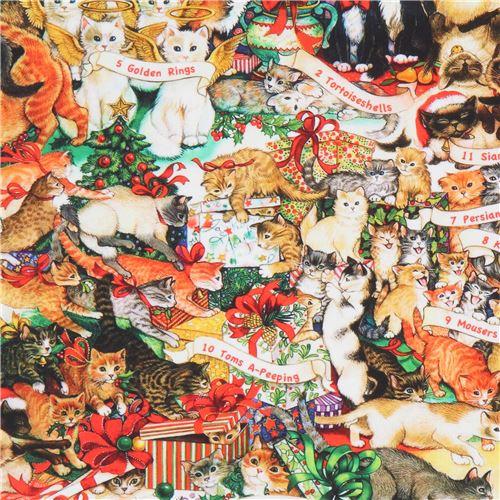 The Joys Of Christmas.12 Days Of Christmas Fabric By Robert Kaufman