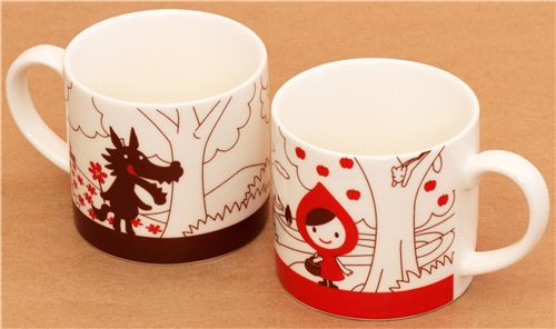 2 Decole Otogicco Red Riding Hood Wolf Fairy Tale Cups