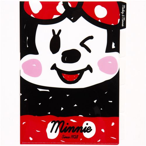 A4 Plastic File Folder 5 Pocket Mickey Amp Minnie Mouse