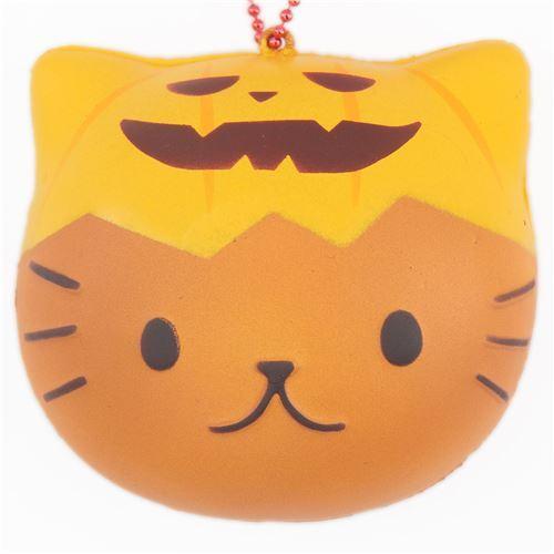 Zucca Halloween Gatto.Squishy Cafe Sakura Halloween Panino Faccia Di Gatto Zucca