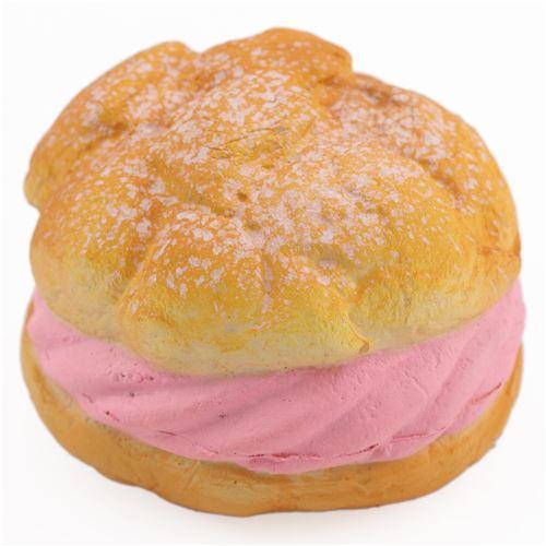 Cafe de N cute big cream puff with pink filling squishy charm kawaii - Food Squishies ...