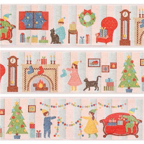 Nastro adesivo decorativo washi soggiorno natale mt oro metallizzato nastri adesivi natalizi - Nastri decorativi natalizi ...