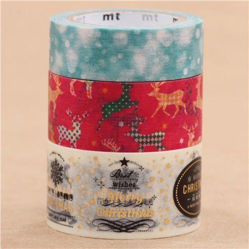 Weihnachts mt Tape Klebeband 3er Set Schnee Rentier Nachricht ...