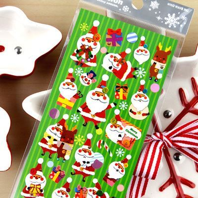 Christmas Stickers.Christmas Stickers With Santa And Presents