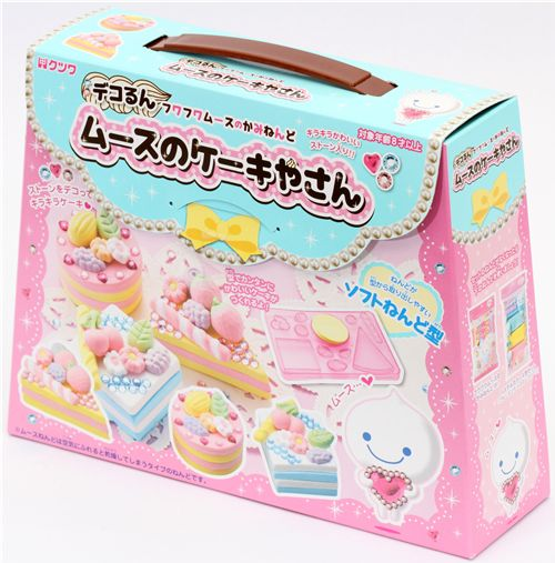 Diy Paper Mousse Clay Making Kit Glitter Cakes Japan Diy