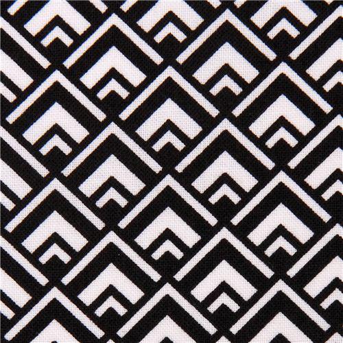Deco Geo Black Michael Miller Triangle Fabric Geo Print
