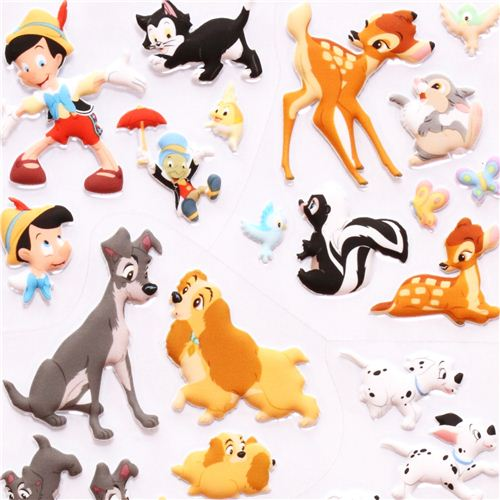 Disney 3D sponge sticker book set Dumbo Lady and the Tramp ...