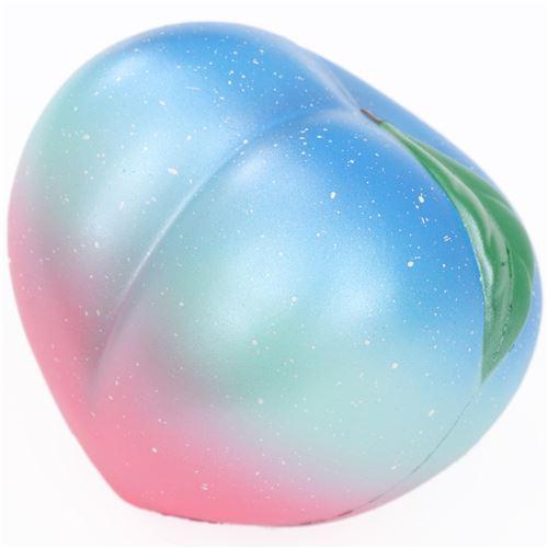 eric galaxy peach fruit squishy kawaii scented - food squishy - squishies