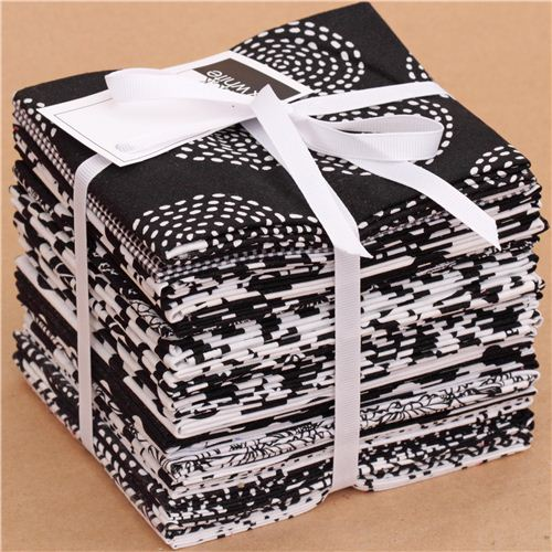 Fat Quarter Fabric Bundle Black Amp White Michael Miller Usa