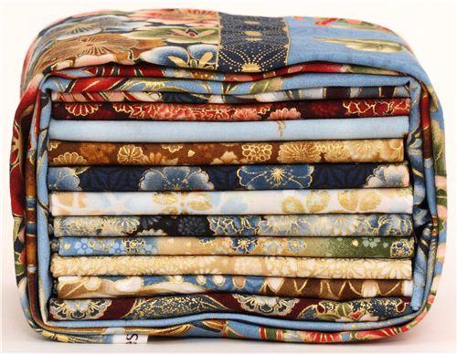 Fat quarter fabric bundle flowers antique by robert for Scampoli tessuti arredamento